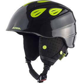 Alpina Grap 2.0 Casco da sci Bambino, charcoal-neon yellow